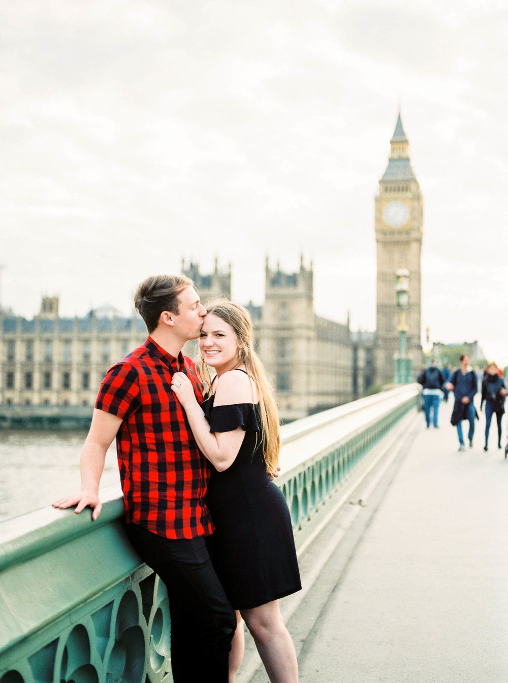 Amy O'Boyle Photography- Destination & UK Fine Art Film Wedding Photographer- London Proposal- Westminster Bridge Big Ben Engagement Shoot-6.jpg