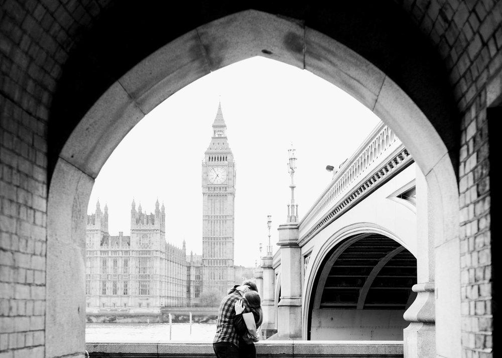 Amy O'Boyle Photography- Destination & UK Fine Art Film Wedding Photographer- London Proposal- Westminster Bridge Big Ben Engagement Shoot-15.jpg