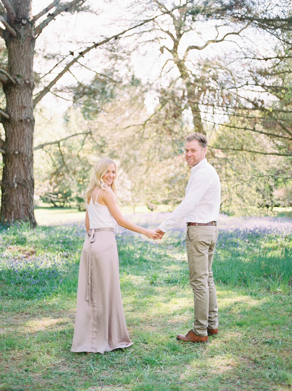 Amy O'Boyle Photography- Destination & UK Fine Art Film Wedding Photographer- Sheffield Park Garden National Trust Spring Engagement Shoot-3.jpg
