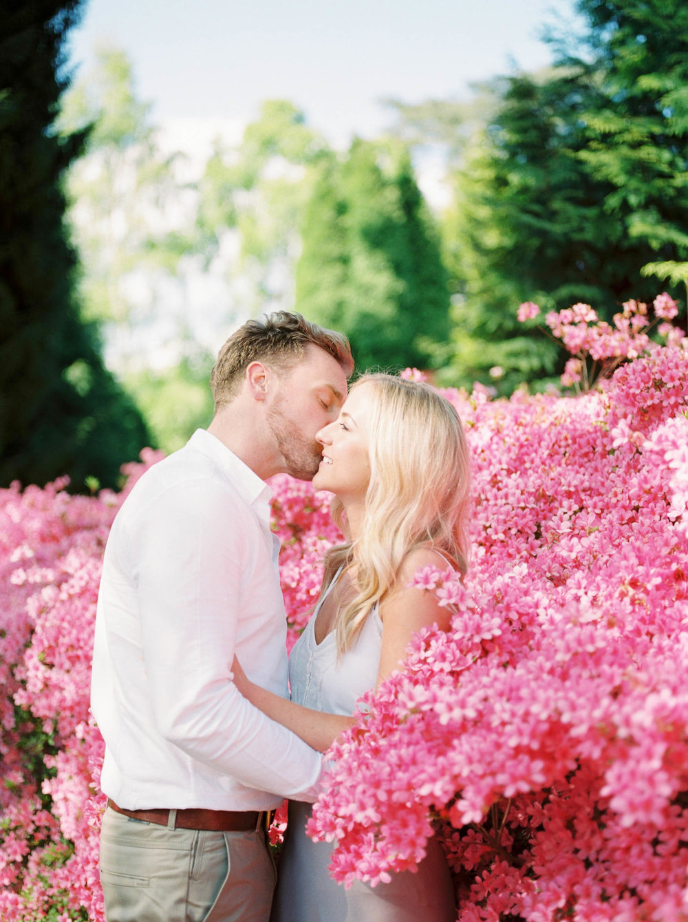 Amy O'Boyle Photography- Destination & UK Fine Art Film Wedding Photographer- Sheffield Park Garden National Trust Spring Engagement Shoot-20.jpg