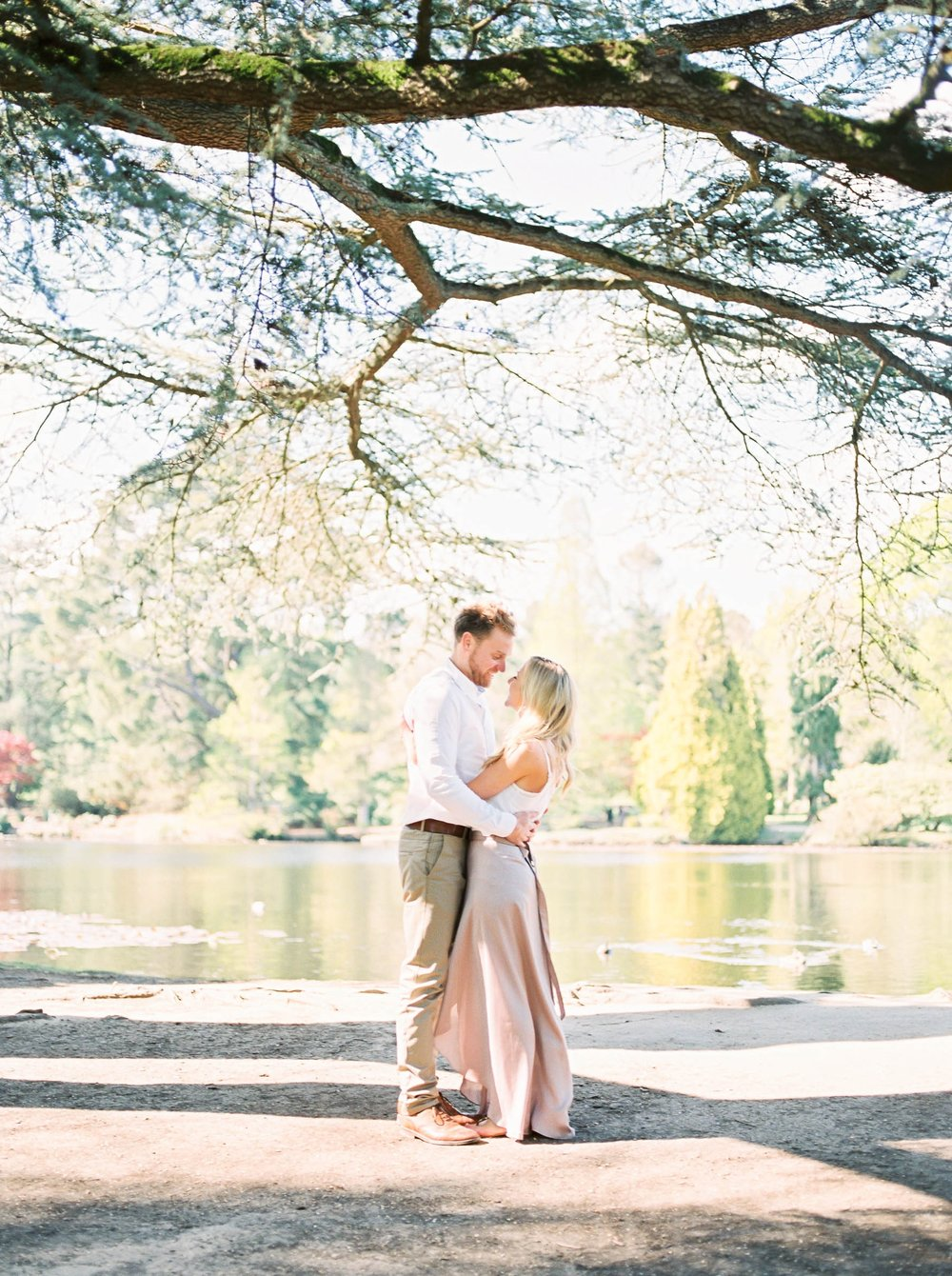 Amy O'Boyle Photography- Destination & UK Fine Art Film Wedding Photographer- Sheffield Park Garden National Trust Spring Engagement Shoot-22.jpg