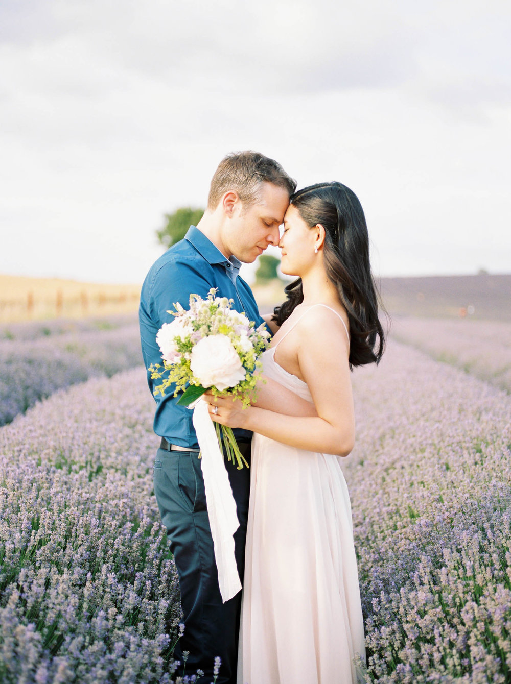 Amy O'Boyle Photography- Destination & UK Fine Art Film Wedding Photographer- Hitchin Lavender Engagement Shoot-1.jpg