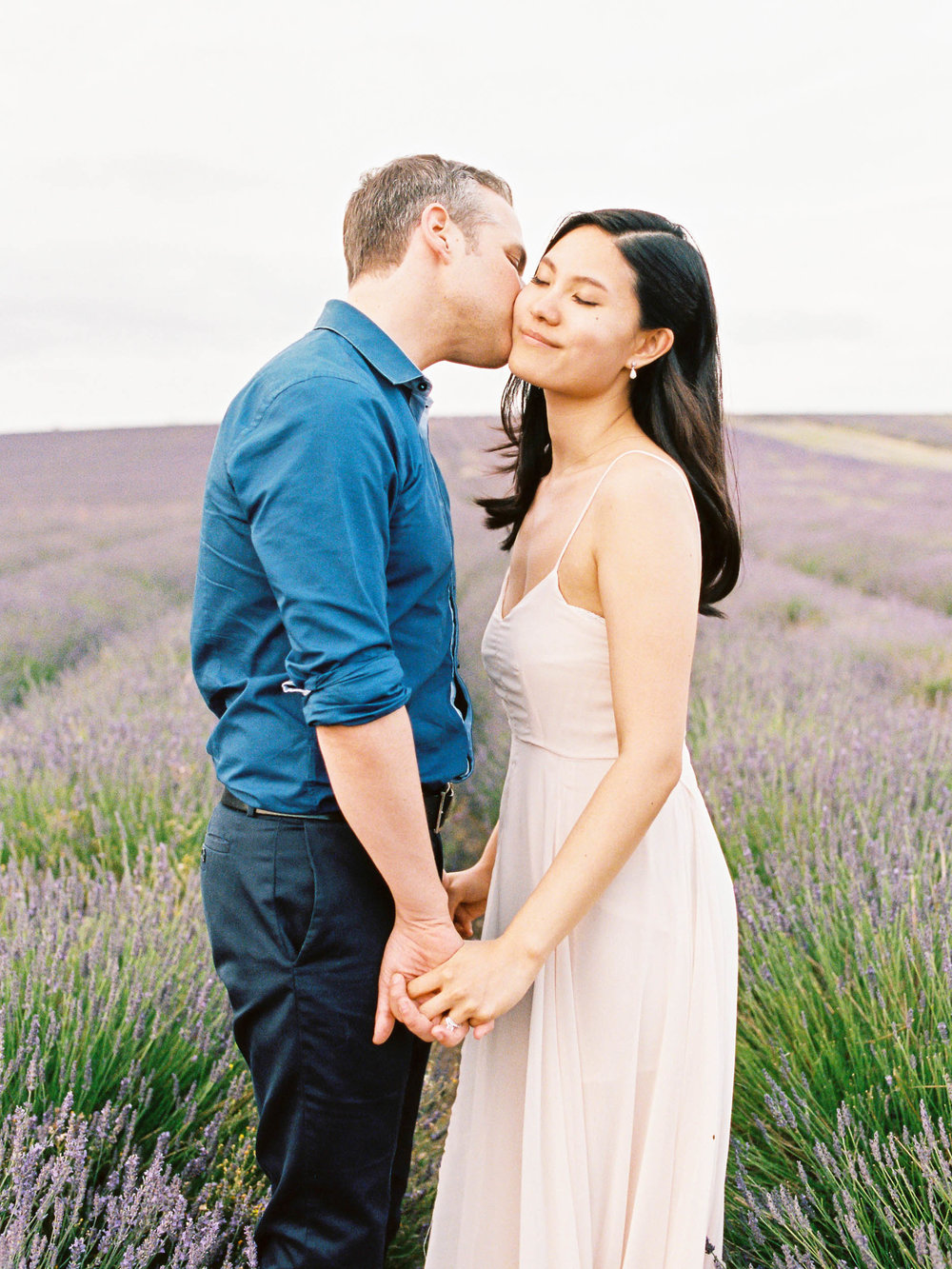 Amy O'Boyle Photography- Destination & UK Fine Art Film Wedding Photographer- Hitchin Lavender Engagement Shoot-5.jpg