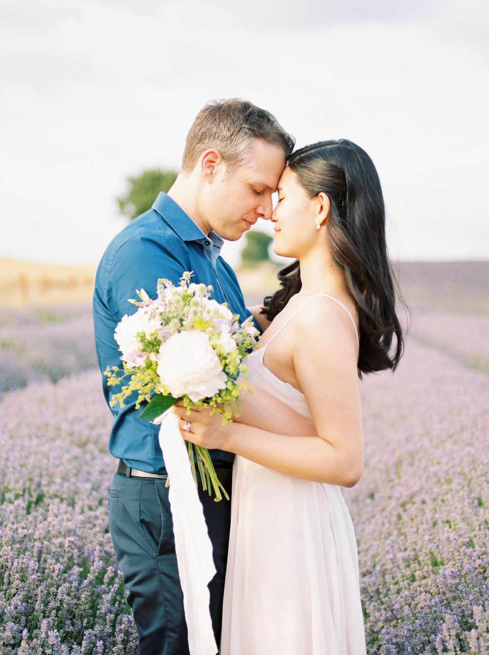 Amy O'Boyle Photography- Destination & UK Fine Art Film Wedding Photographer- Hitchin Lavender Engagement Shoot-13.jpg