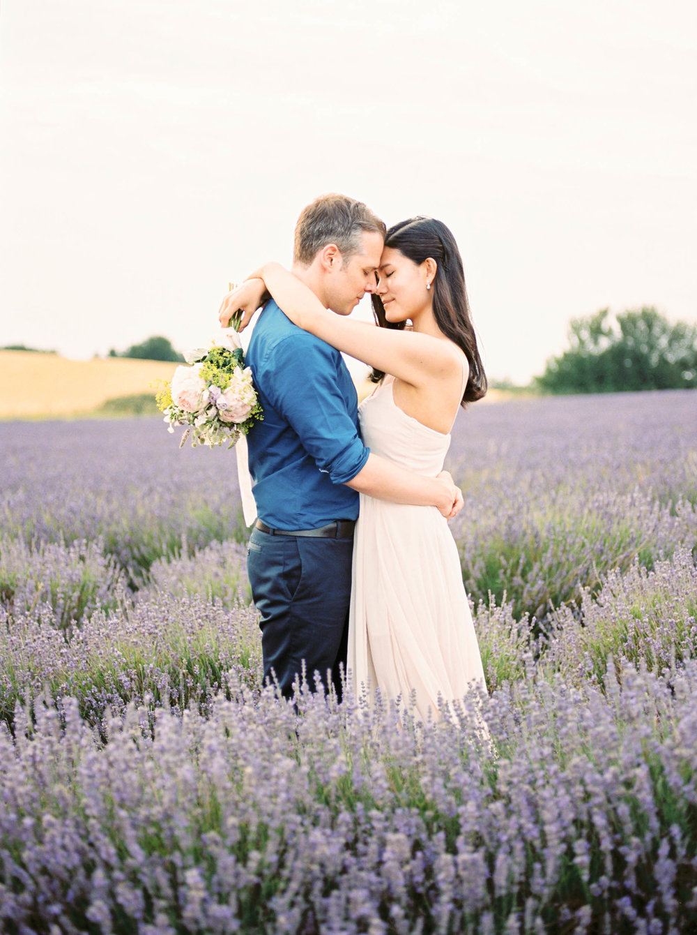 Amy O'Boyle Photography- Destination & UK Fine Art Film Wedding Photographer- Hitchin Lavender Engagement Shoot-21.jpg