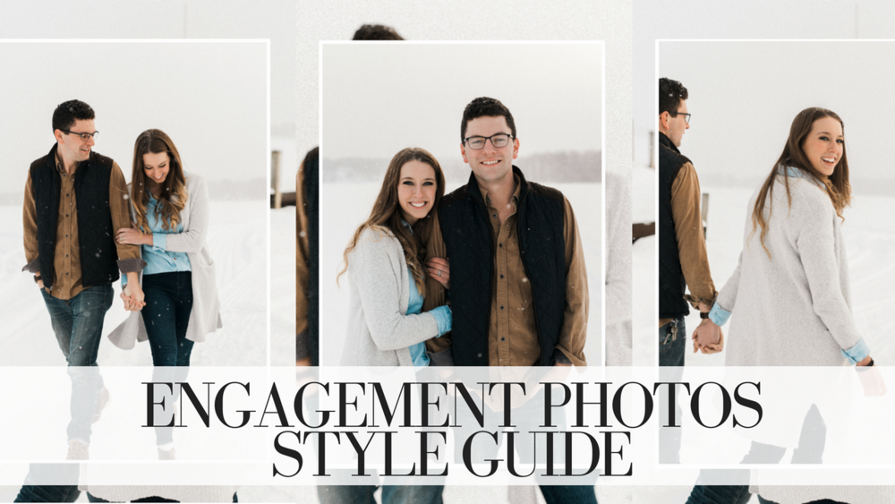 Inspiration and tips/tricks for planning your engagement session outfits!