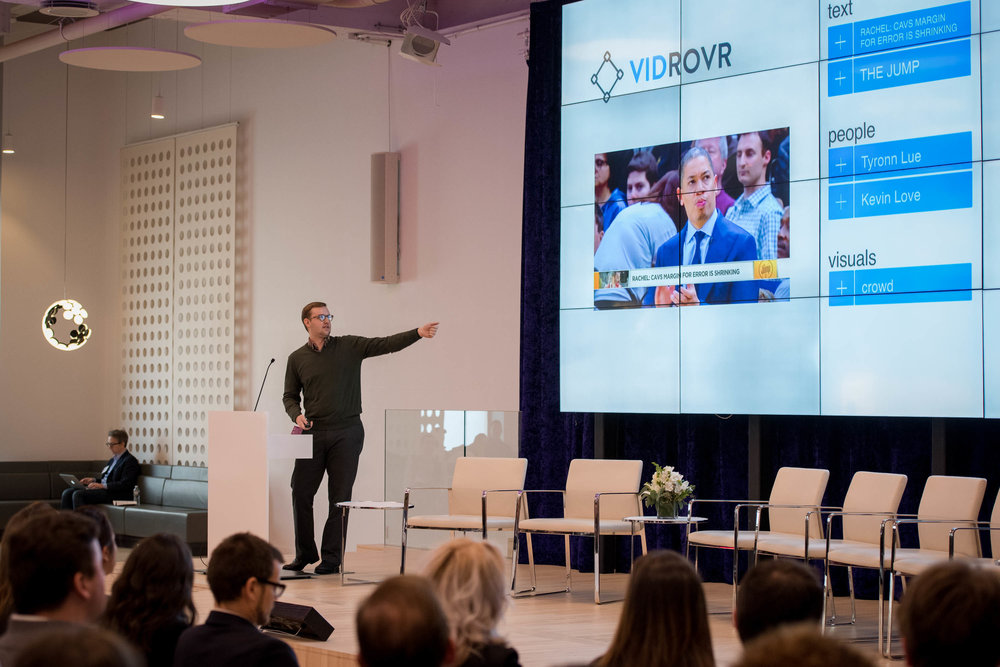 """Before starting Vidrovr, I was an engineer, and had the technical skills to build video search solutions for media companies but didn't have the connections, sales, or business savvy to make an impact. NYC Media Lab has introduced me to current customers, helped me with pitching, and has been influential in product development."" - Joe Ellis, Vidrovr"