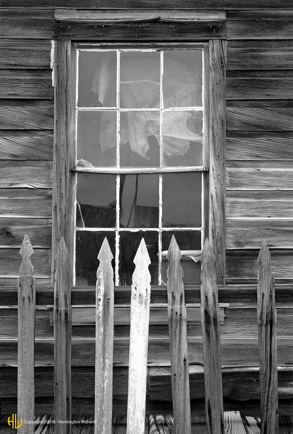 Window and Fence, Bodie California, 1983