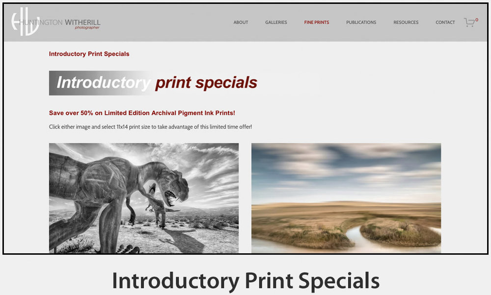 Introductory Print Specials