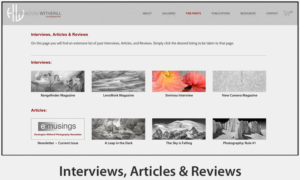 Interviews, Articles & Reviews