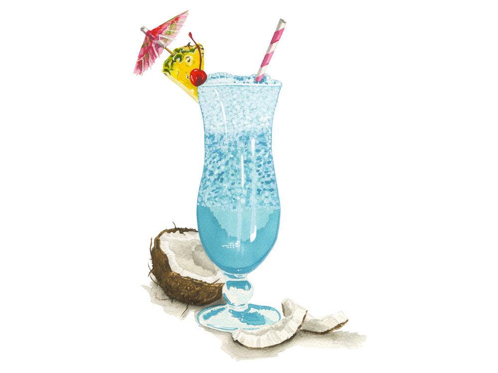 Blue Hawaiian | Mid-Century Cocktail Series