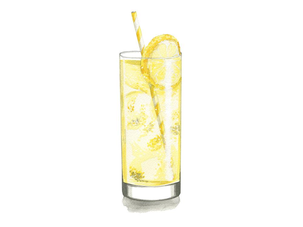 Tom Collins | Mid-Century Cocktail Illustration