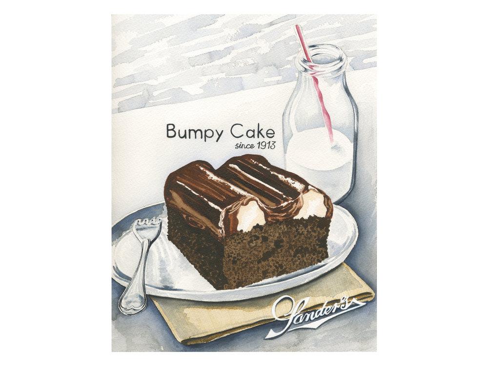 Sanders Bumpy Cake