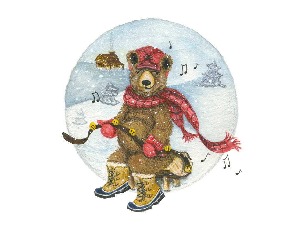 Holly Jolly Holiday Bear