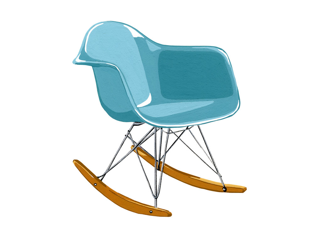 Molded Plastic Rocker | Mid-Century Chair Series
