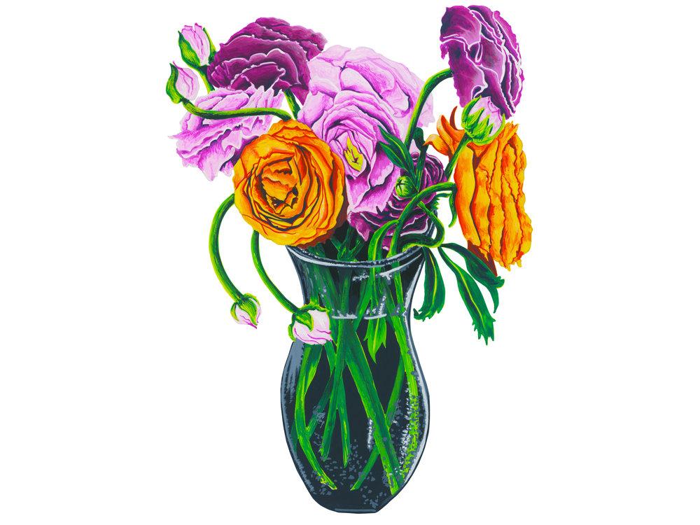 Ranunculus Vase