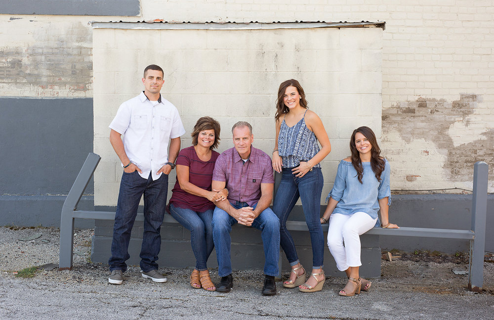St Marys Ohio, outdoor family portrait, family clothing, urban family