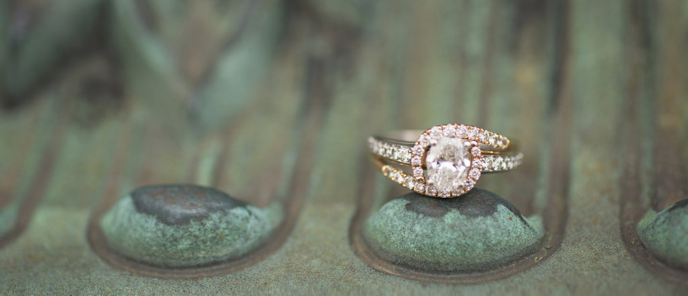 Piqua Ohio, engagement ring detail