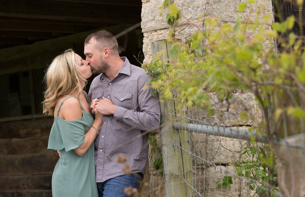Covington Ohio, romantic engagement photography, rustic location, storytelling photography, lovestory