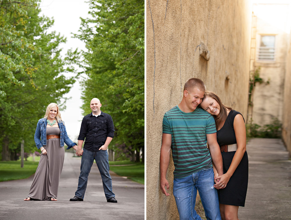 Chickasaw Ohio, Versailles Ohio, engagement portraits, fun engagement photography, urban engagement photography