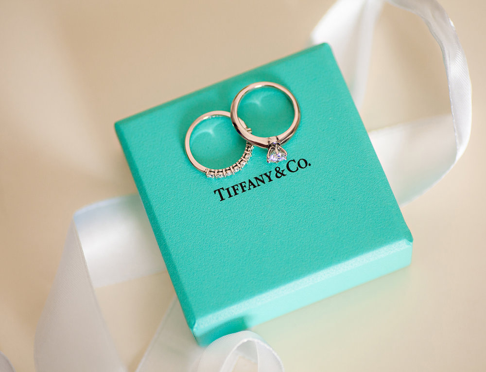 Tiffany blue, Tiffany box, Tiffany ring, wedding details, Bellefontaine Ohio
