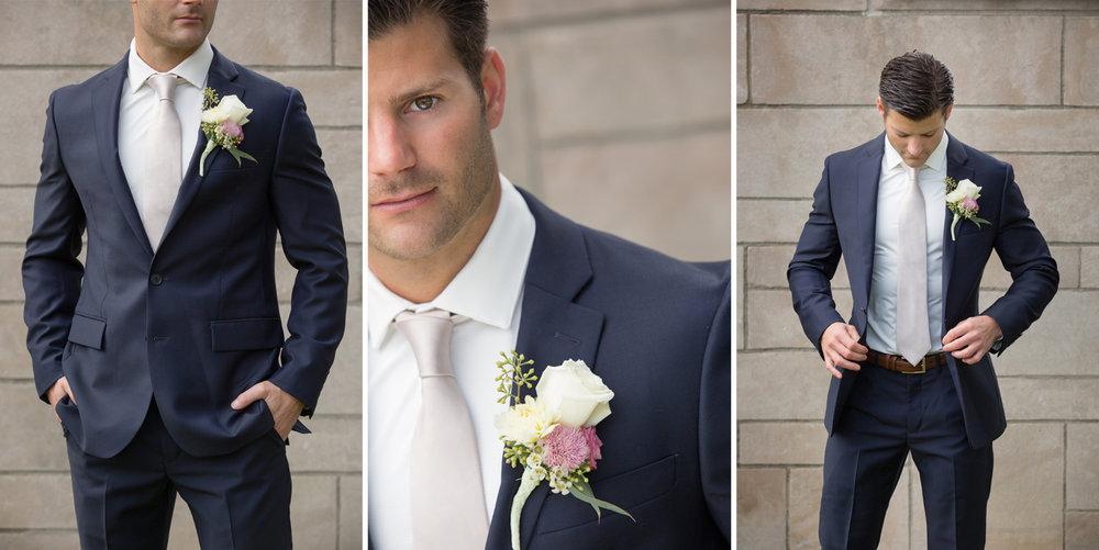 groom portraits, modern groom, navy suit, Minster Ohio, St Augustine