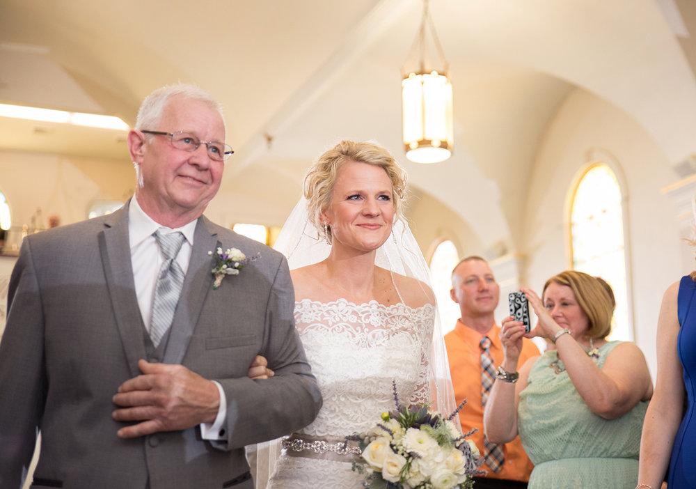 North Star Ohio, St Louis Catholic Church, wedding ceremony, lace wedding dress, emotional wedding photography, storytelling photography