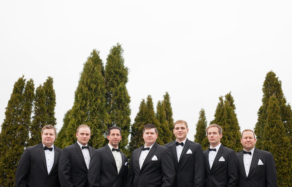 Celina Ohio, groomsmen, modern wedding photography, Romer's catering