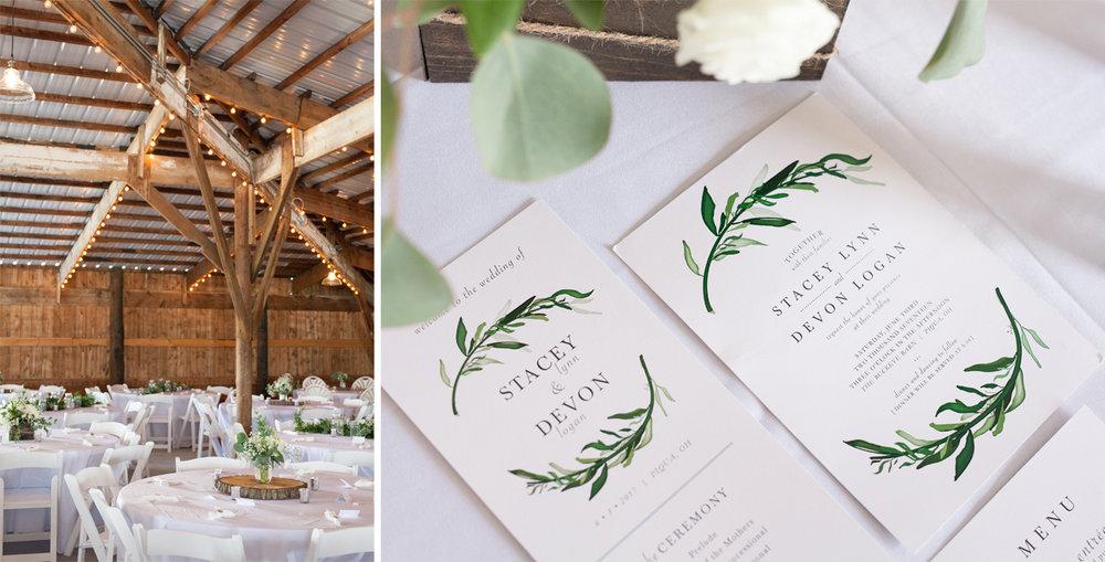 Piqua Ohio, rustic wedding, barn wedding, Buckeye Barn, wedding stationery, wedding details