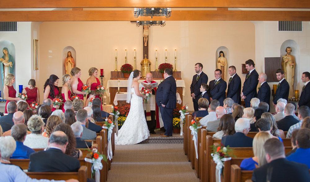 Covington Ohio, wedding ceremony