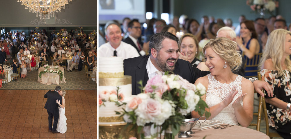 Piqua Ohio, Fort Piqua Plaza, wedding reception, first dance, storytelling photography