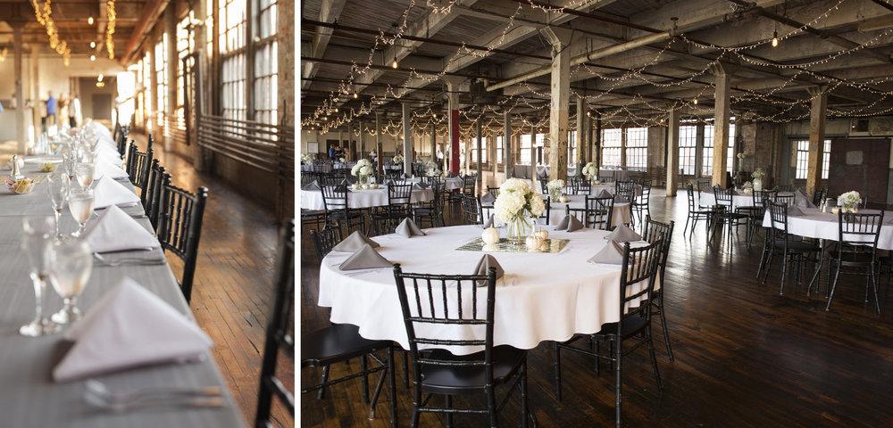 Dayton Ohio, warehouse wedding venue, unique wedding, wedding reception, reception details