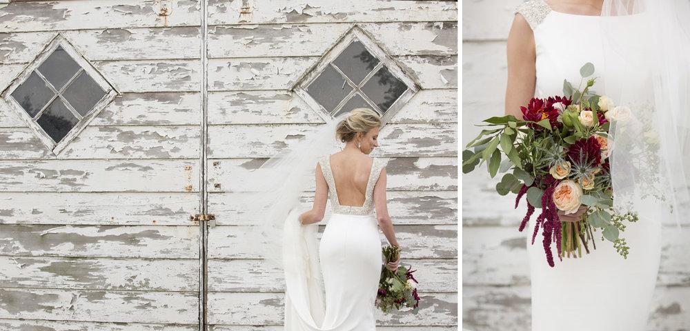Maria Stein Ohio, rustic wedding, rustic bouquet, sheath wedding dress, open back wedding dress, bridal details, storytelling photography, modern wedding photography