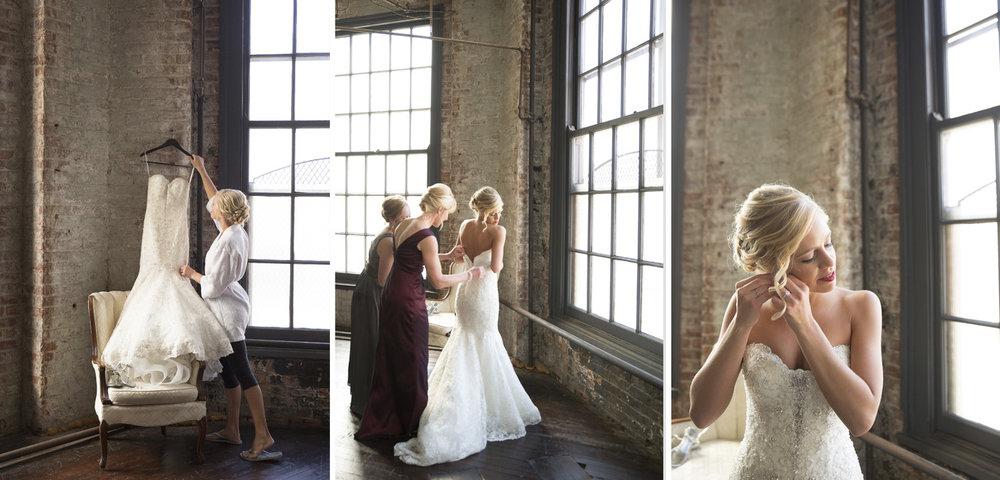 Dayton Ohio, warehouse wedding, unique wedding venue, modern wedding photography, bride getting ready, storytelling wedding photography