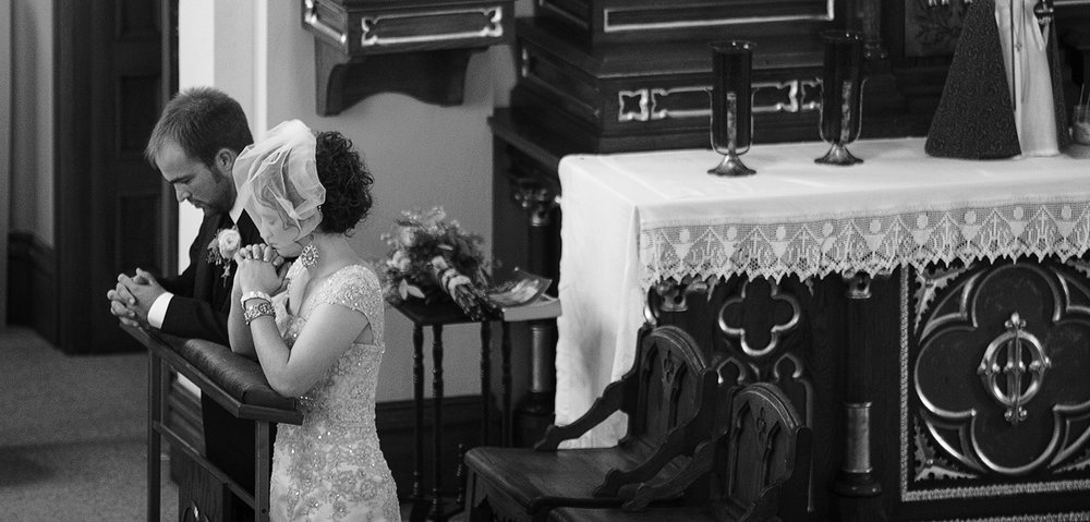 St Henry Ohio, wedding ceremony, storytelling photography, black and white photography, emotional wedding photography, candid wedding photography