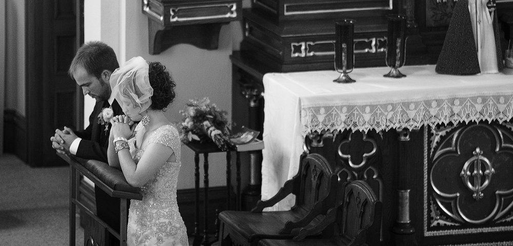 St Henry Ohio, wedding ceremony, storytelling photography, black and white photography, emotional wedding photography, candid wedding photography