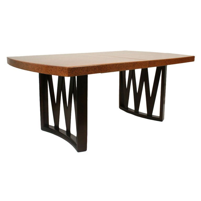 This Beautiful Cork Top Table is by Paul Frankl for Johnson Furniture Co.