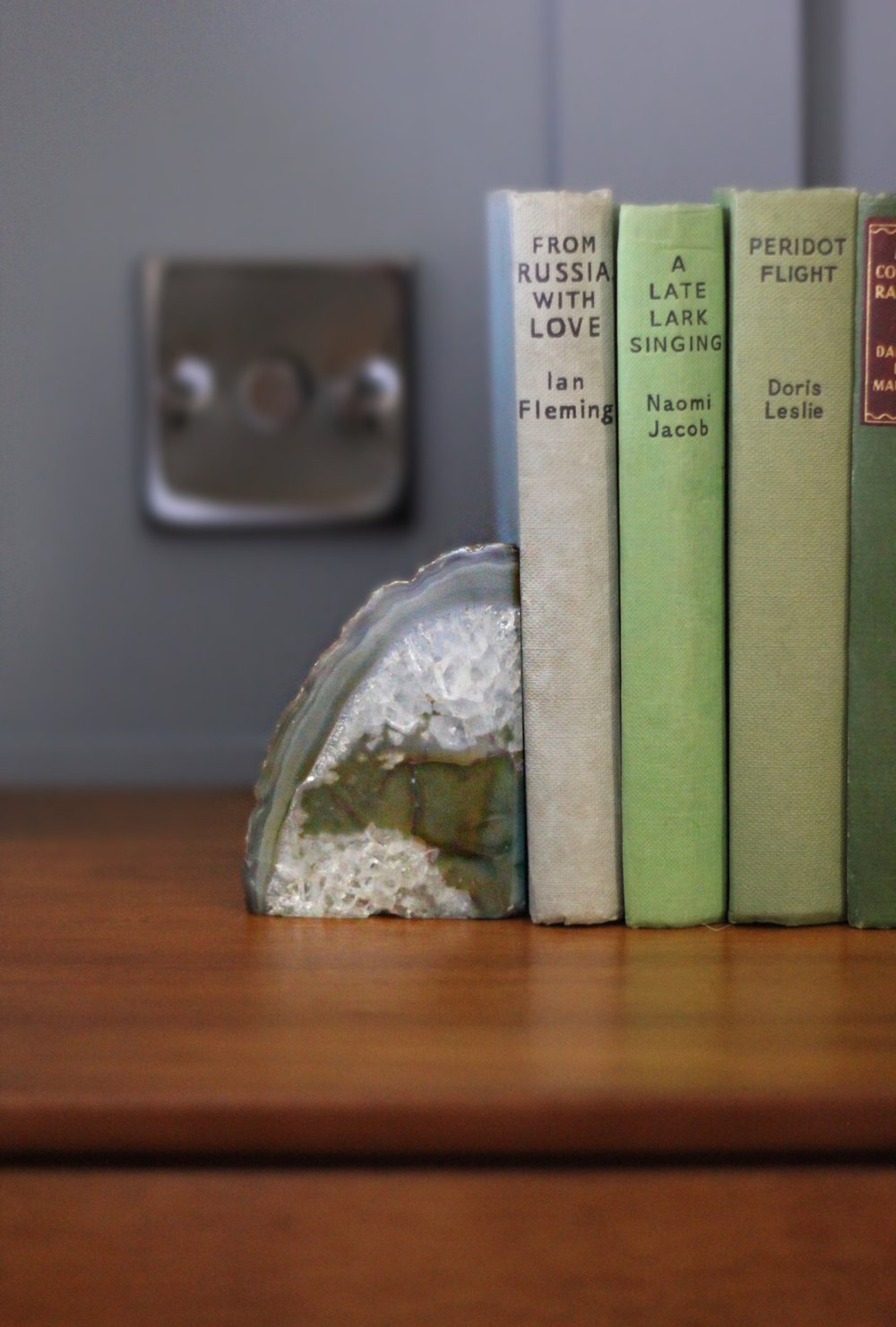 Agate Bookends -Green