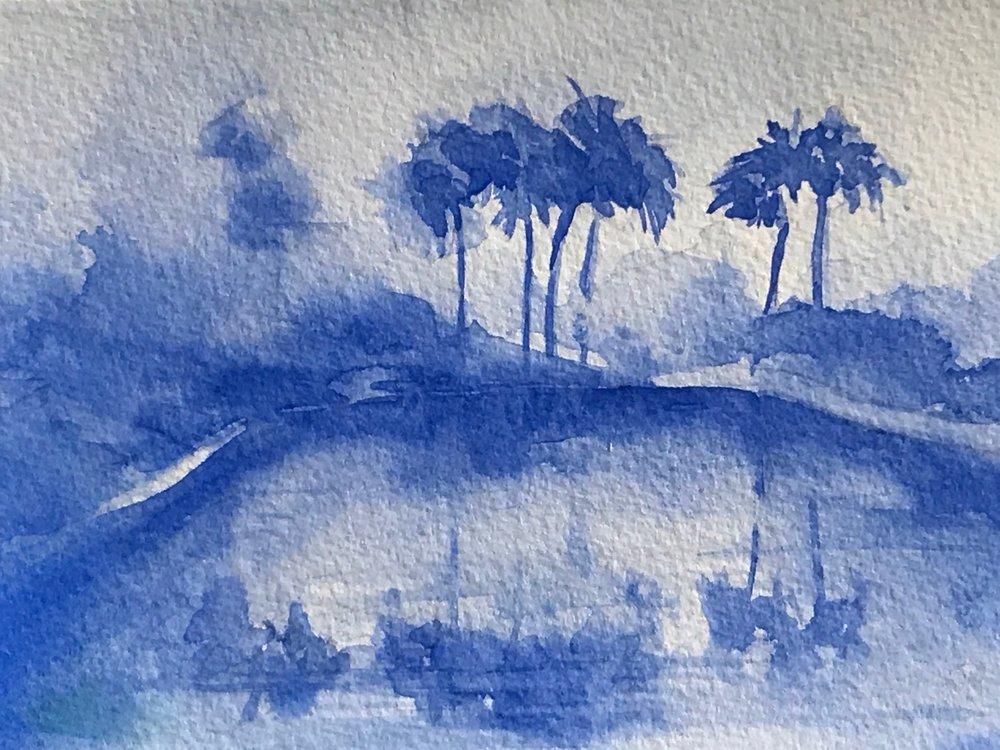 """Blue Palms"""