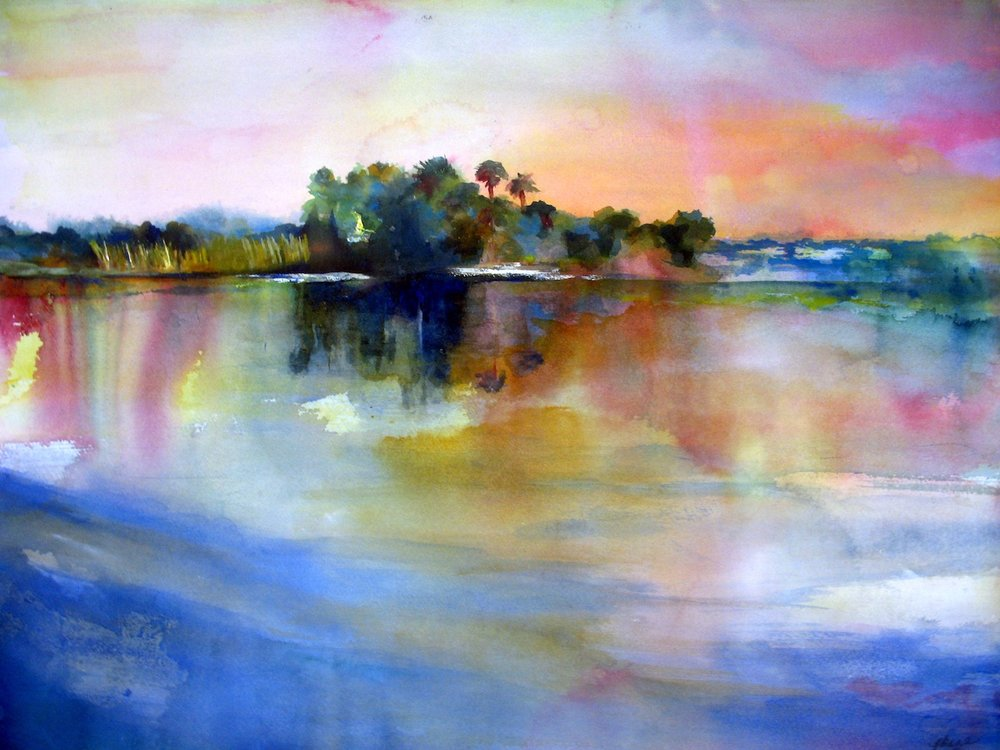"""Sunset On The St Johns River"""