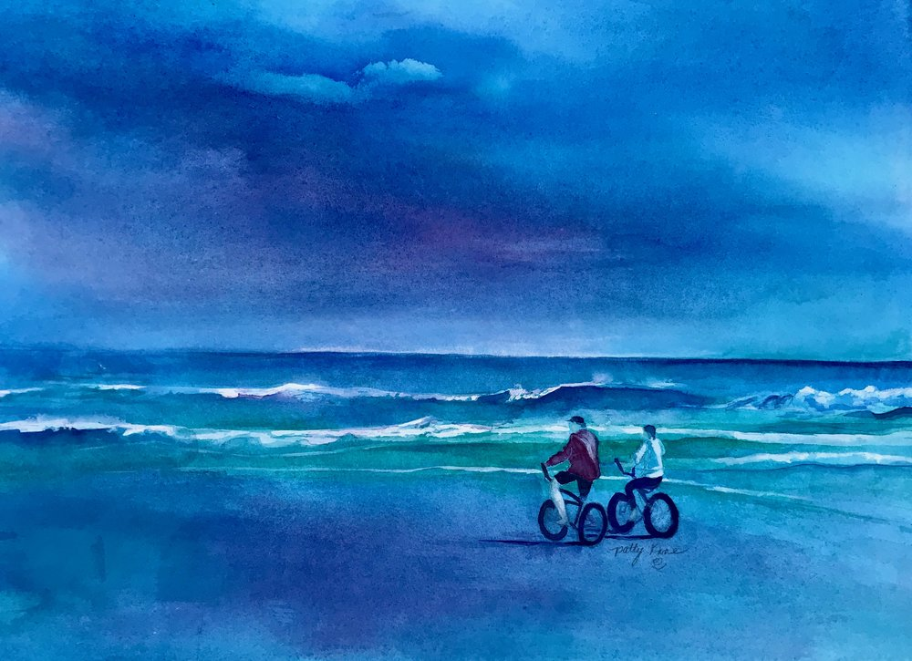 """Biking Into The Storm"""