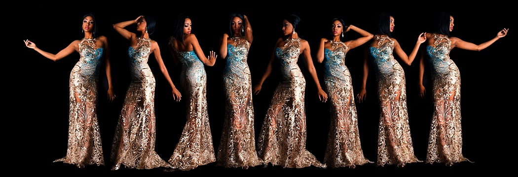 Cyerria Wearing Katya Adeeve Couture Dresses