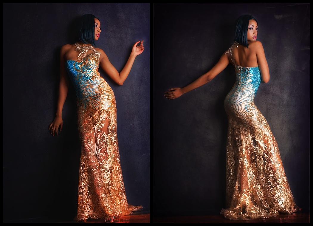 Cyerria Wearing Katya Adeeve Couture Dresse