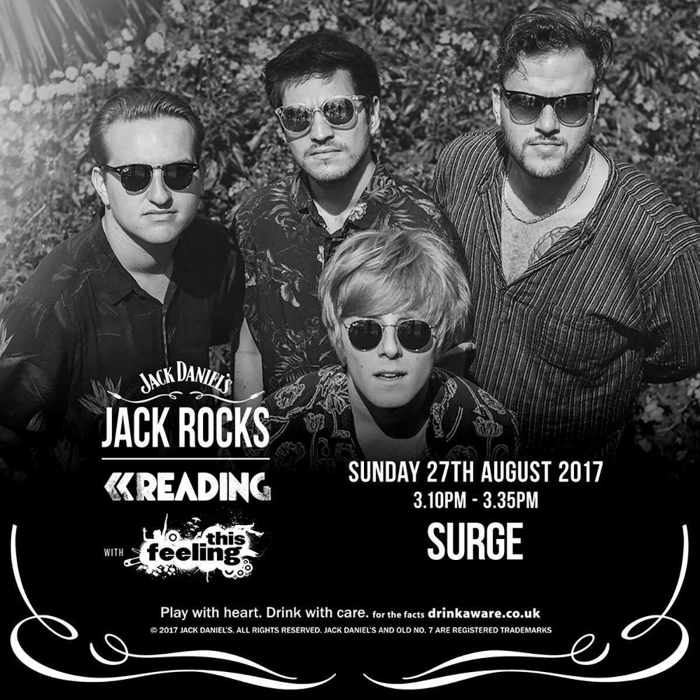 Surge, Reading Festival announcement, August 2017    Surge promo photos