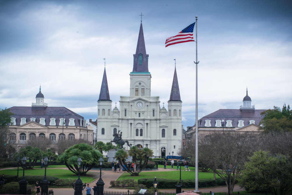 St. Louis Cathedral from Jackson Square.