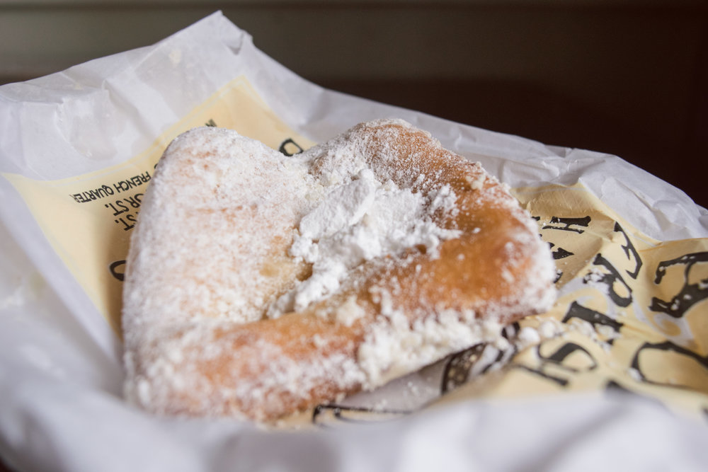 A beignet from Cafe Beignet.