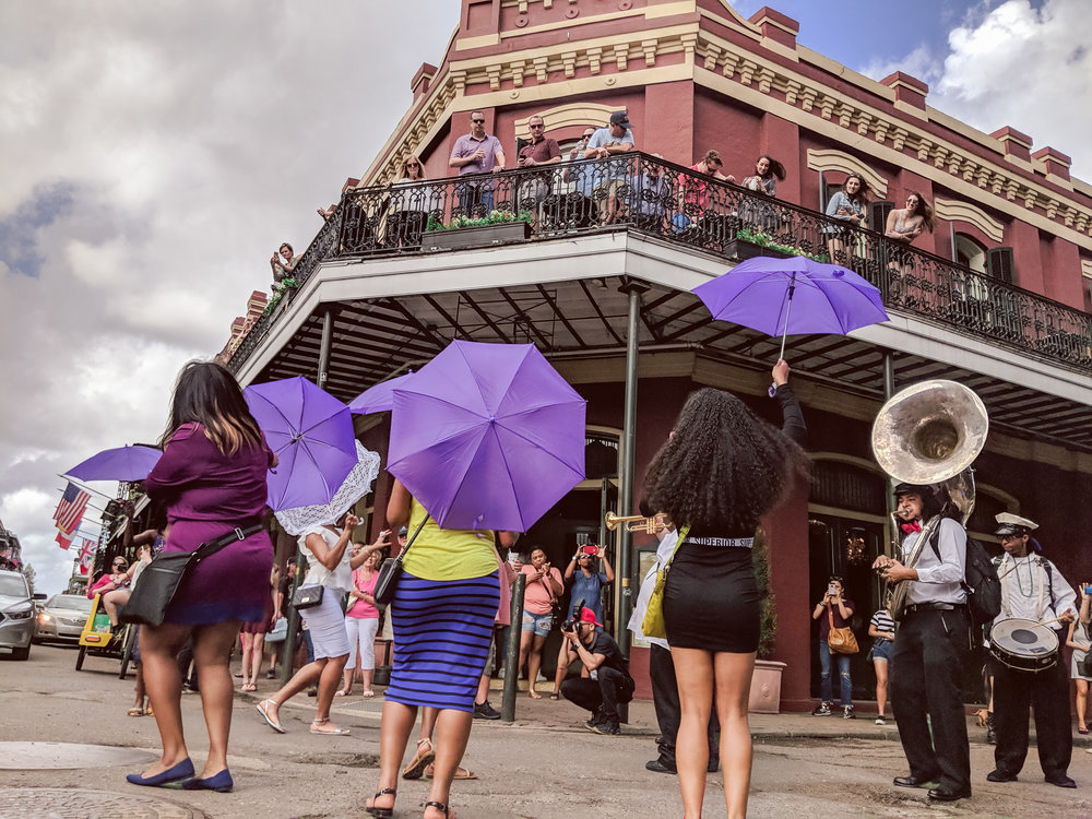 Mid-day Line Parade through Jackson Square