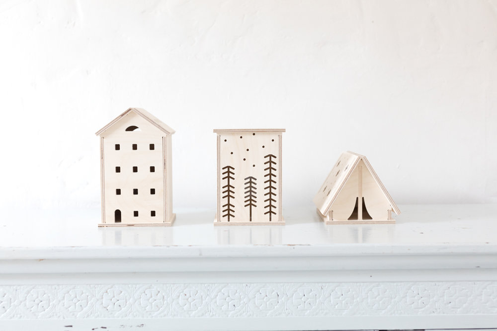 OFF - Bright Corner Wooden Lights - Townhouse, Woodland & Star Tent