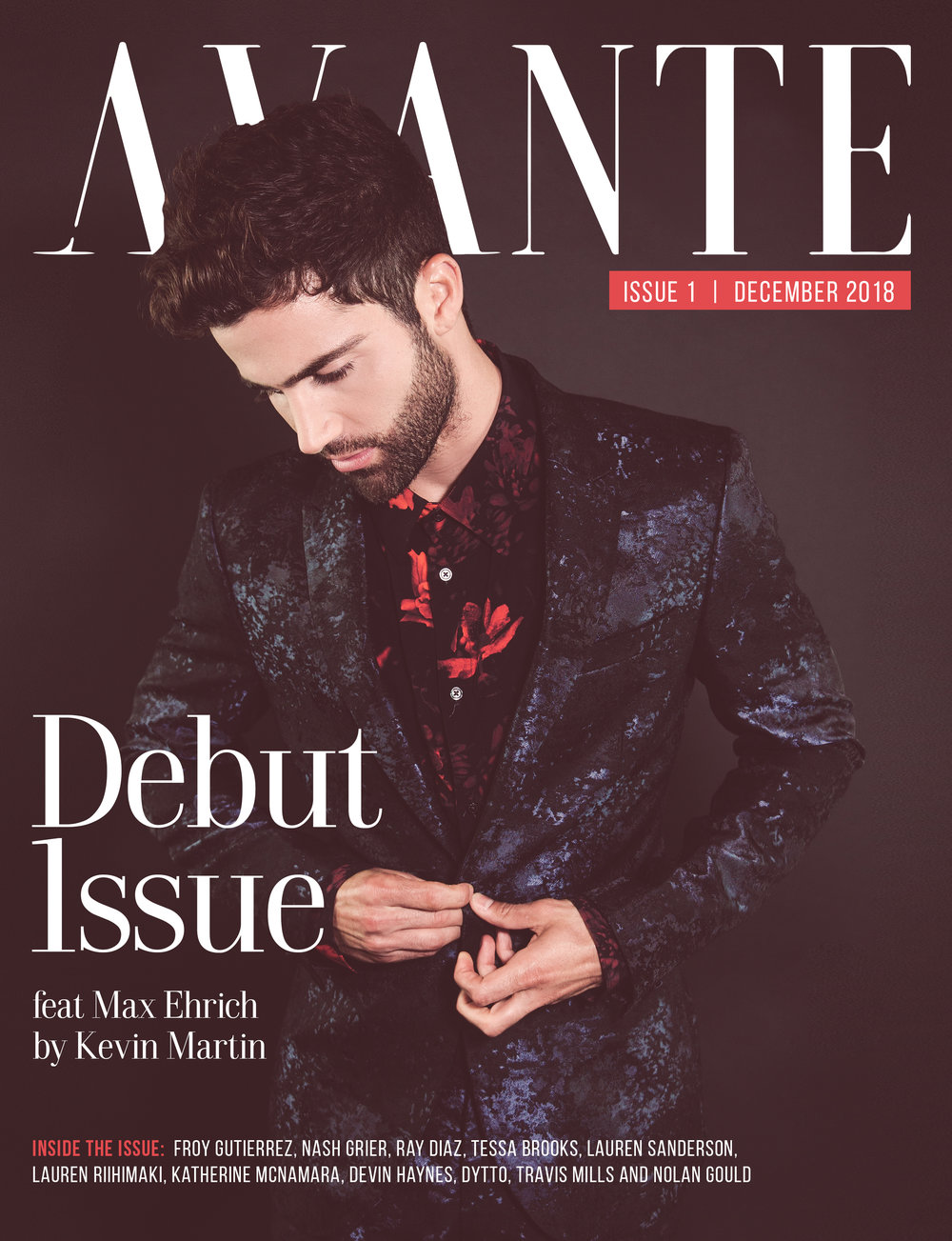 Debut Issue: Max Ehrich Cover