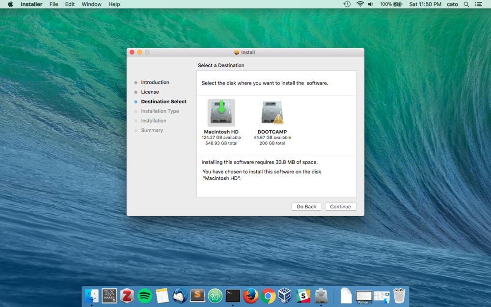 4. Install Destination - If prompted, install Solitare on the default hard drive. The default option provided to you by the installer is probably fine.